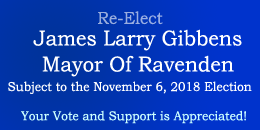 Re-Elect Ravenden Mayor Gibbons